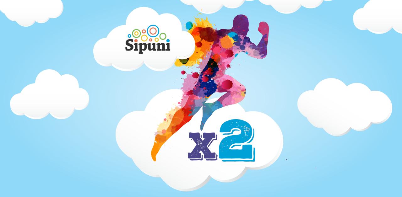 Работа с Sipuni на двойной скорости